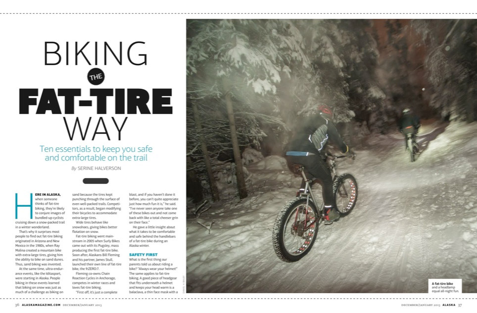new publication alaska magazine snow biking feature article dan bailey 39 s adventure. Black Bedroom Furniture Sets. Home Design Ideas