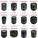 Nikon Lens Rebates – 18 Lenses, Save up to $350