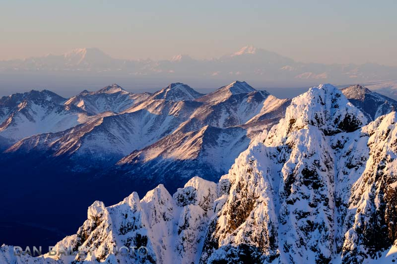 The Chugach, with Denali, Hunter and Foraker off in the distance.