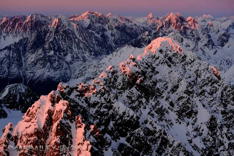 Last light on the Chugach Mounains, Alaska