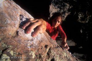 Carol Adair bouldering, Punk Rock, Rotary Park, Horsetooth Reservoir,  Fort Collins, Colorado