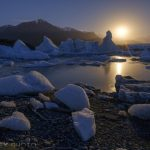 Photographing Icebergs by the Light of the Moon