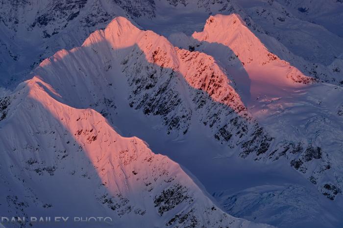 Peak 5541, Chugach Mountains, Alaska.