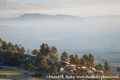 Fog over Fort Collins