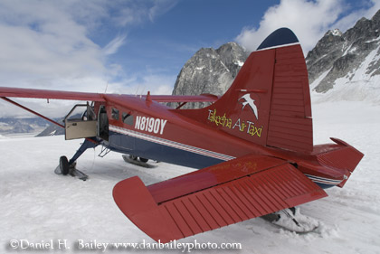 N8190Y on the Pika Glacier