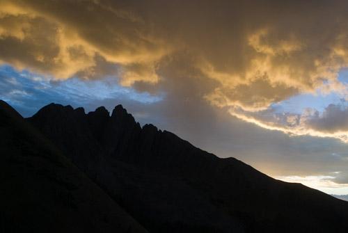 sunset over Nokhu Crags, Colorado
