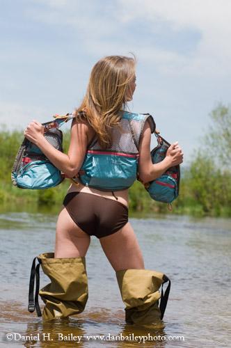 girls fly fishing