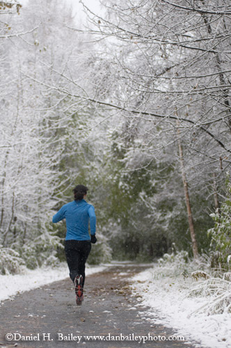 Running Under the First Snowfall, Anchorage, AK