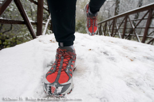 Runner's Feet in the Snow