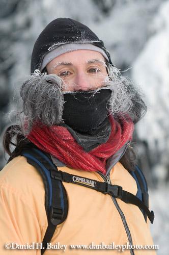 Portrait of a runner at 10 below zero.