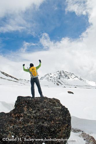 Mountain Hiker, Chugach Range, Alaska