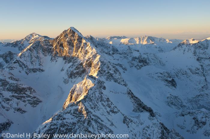 Aeria photo of Mt. Yukla, Eagle River Valley, Chugach Mountains, Alaska