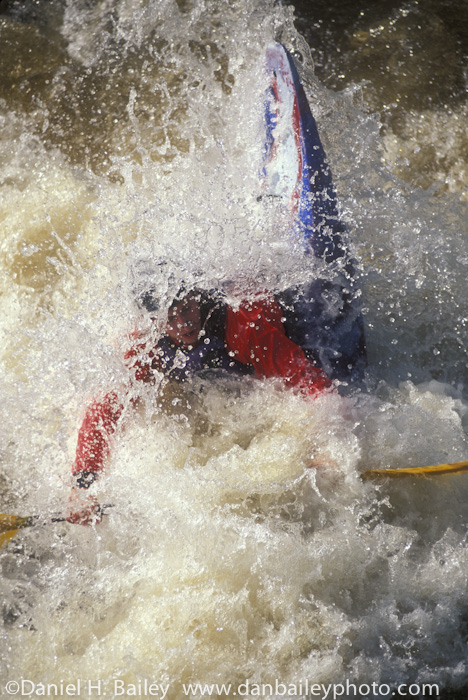 Dave Zinn kayaking Poudre Falls, Cache la Poudre River, Colorado