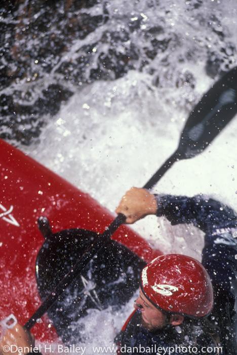 Kayaking Upper Narrows, Cache la Poudre River, Colorado