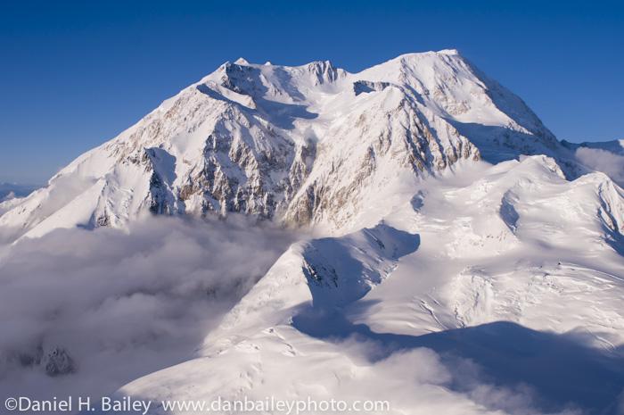 Aerial photo of Denali (Mt. McKinley), Alaska