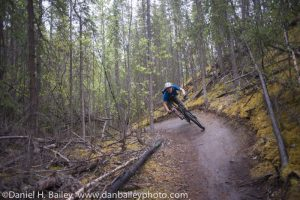 Mountain biking, Whitehorse, Yukon, Canada