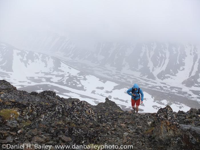 Hiking, Knoya Peak, Chugach Mountains, Alaska