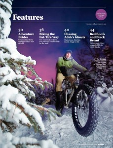 Fat tire snow biking, Anchorage, Alaska