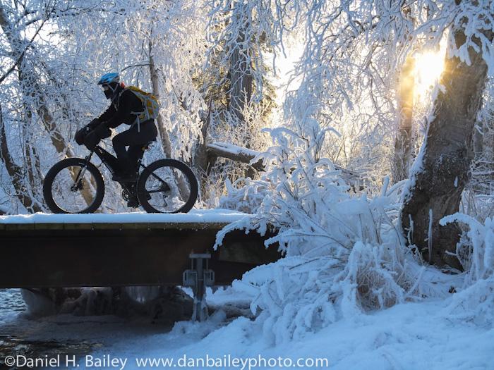 Fat tire snow biking, Anchorage, Alaska
