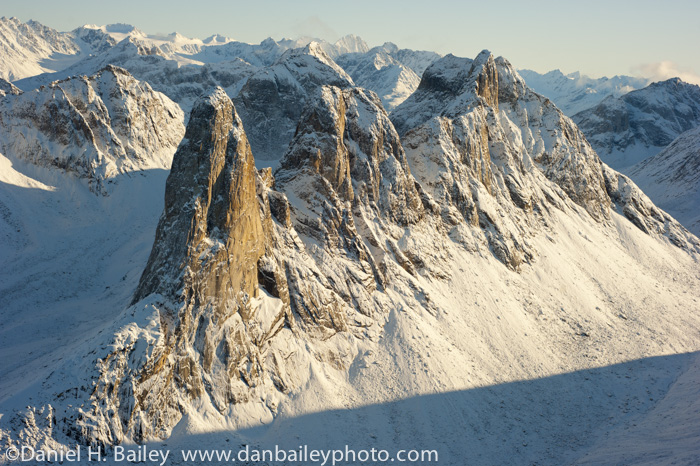 The Tusk, a 2.500 foot rock spire, Neacola Mountains, Merrill Pass, Alaska