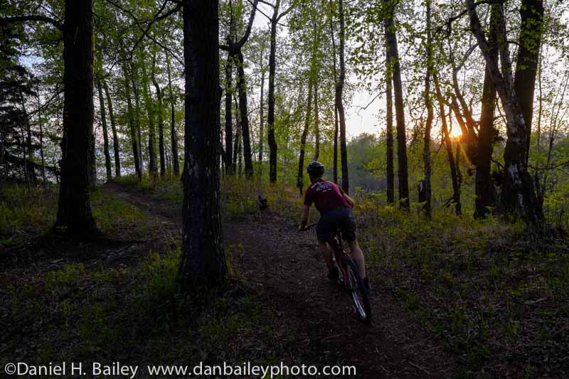 Nicholas Carman mountian biking, Kincaid park singletrack