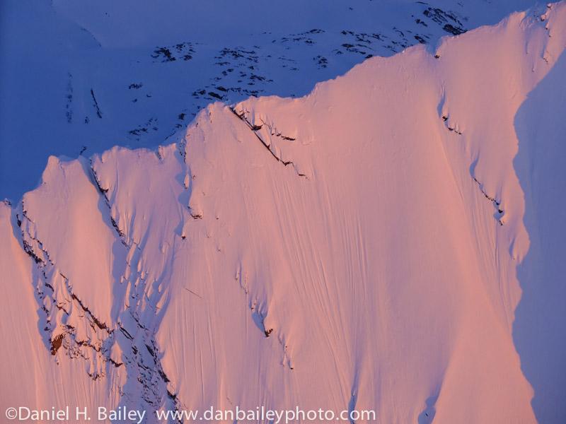 Spring aerial photo of the Chugach Mountains, Southcentral, Alaska