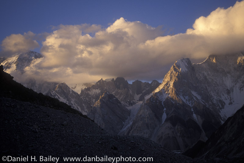 Peaks on the Baltoro Glacier, Karakoram Himalayas, Pakistan