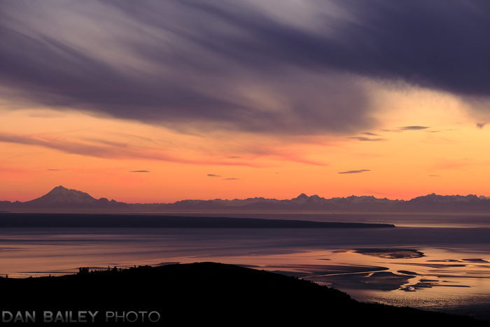 Sunset over Mt. Redoubt and The Cook Inlet, Alaska