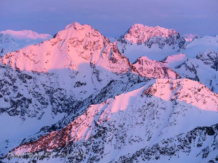 Alpengow aerial photo of Eagle Peak, Chugach Mountains, Alaska