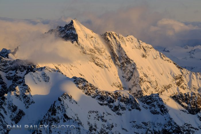 Afternoon light on Bashful Peak, Chugach Mountains, Alaska